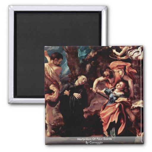 Martyrdom Of Four Saints By Correggio Refrigerator Magnets