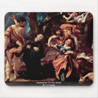 Martyrdom Of Four Saints By Correggio Mousepads