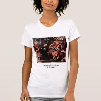 Martyrdom Of Four Saints By Correggio Tshirts