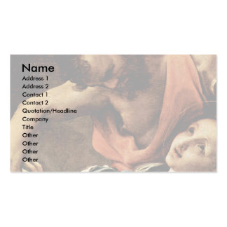 Martyrdom Of Four Saints Detail By Correggio Pack Of Standard Business Cards