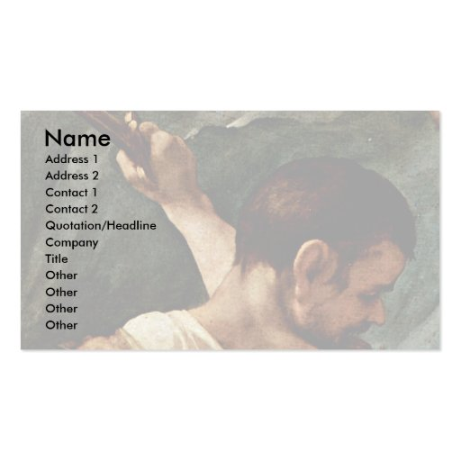 Martyrdom Of Four Saints Detail By Correggio Business Cards