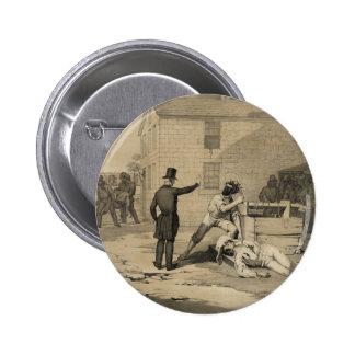 Martyrdom of Joseph & Hiram Smith in Carthage Jail 6 Cm Round Badge