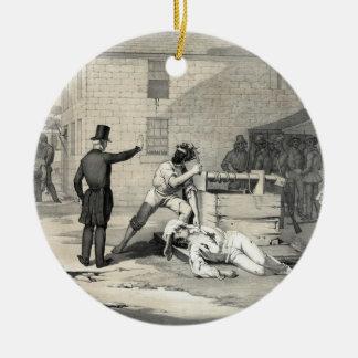 Martyrdom of Joseph & Hiram Smith in Carthage Jail Round Ceramic Decoration