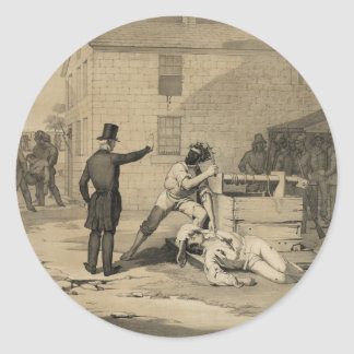 Martyrdom of Joseph & Hiram Smith in Carthage Jail Round Sticker