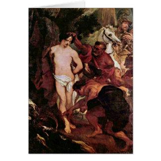 Martyrdom Of Saint Sebastian By Anthony Van Dyck Greeting Card