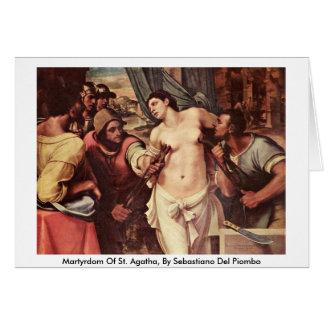 Martyrdom Of St. Agatha, By Sebastiano Del Piombo Greeting Card