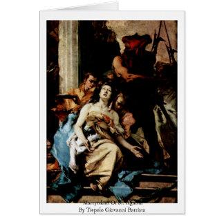 Martyrdom Of St. Agatha Greeting Card