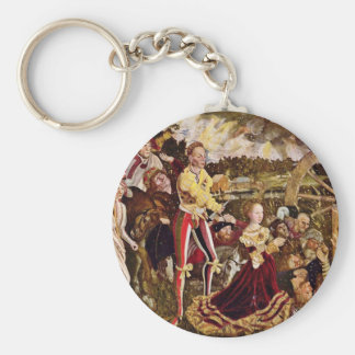 Martyrdom Of St. Catherine By Cranach D. Ä. Lucas Basic Round Button Key Ring