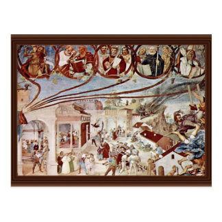 Martyrdom Of St. Clare By Lotto Lorenzo (Best Qual Postcard