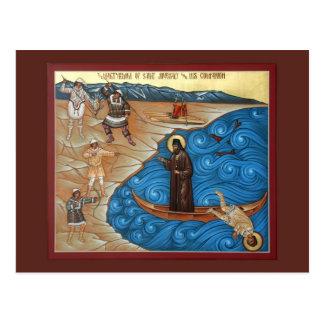 Martyrdom of St. Juvenaly Prayer Card Postcard