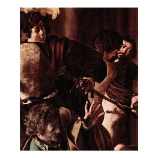 Martyrdom of St. Matthew detail 4 by Caravaggio Poster