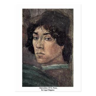 Martyrdom Of St. Peter,  By Lippi Filippino Postcard