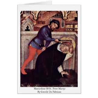 Martyrdom Of St. Peter Martyr Cards