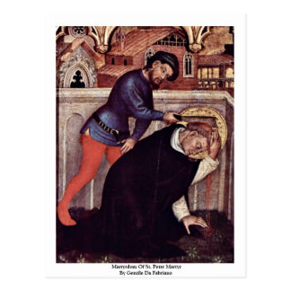 Martyrdom Of St. Peter Martyr Postcard