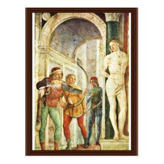 Martyrdom Of St. Sebastian, By Foppa Vincenzo Postcard