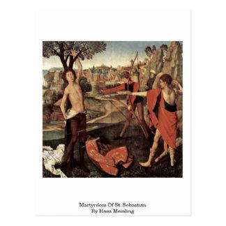 Martyrdom Of St. Sebastian By Hans Memling Postcard