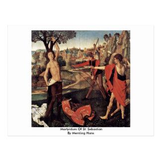 Martyrdom Of St. Sebastian By Memling Hans Postcard