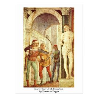 Martyrdom Of St. Sebastian By Vincenzo Foppa Postcard