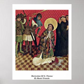 Martyrdom Of St. Thomas By Master Francke Poster