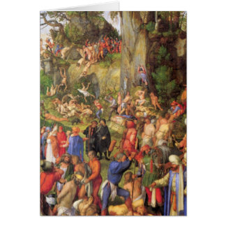 Martyrdom of ten thousand Christians Greeting Card