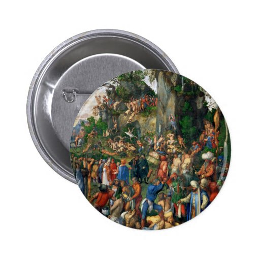 Martyrdom of the Ten Thousand by Albrecht Dürer Pinback Button