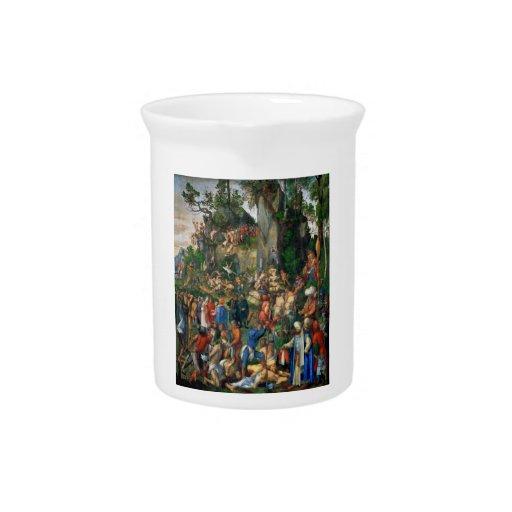 Martyrdom of the Ten Thousand by Albrecht Dürer Drink Pitchers