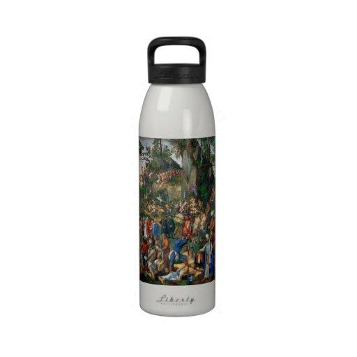 Martyrdom of the Ten Thousand by Albrecht Dürer Water Bottles