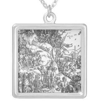 'Martyrdom of the Ten Thousand' Square Pendant Necklace