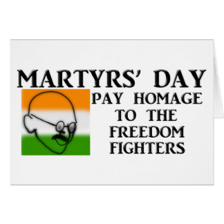 Martyrs Day India Card