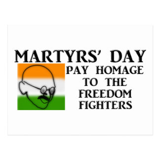 Martyrs' Day (India) Postcard