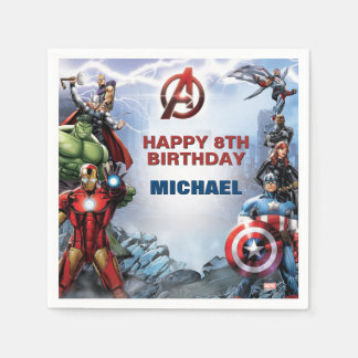 Marvel | Avengers - Birthday Disposable Serviettes