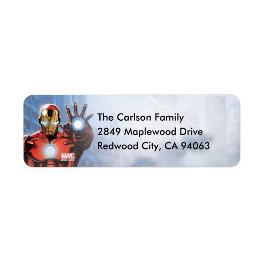 Marvel | Avengers - Birthday Return Address Label
