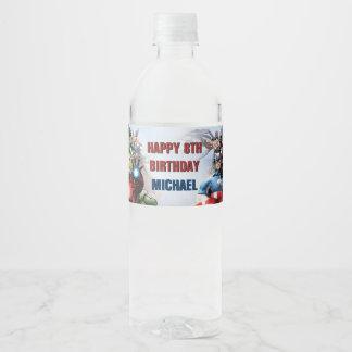 Marvel | Avengers - Birthday Water Bottle Label