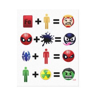 Marvel Emoji Character Equations Canvas Print