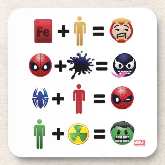 Marvel Emoji Character Equations Coaster