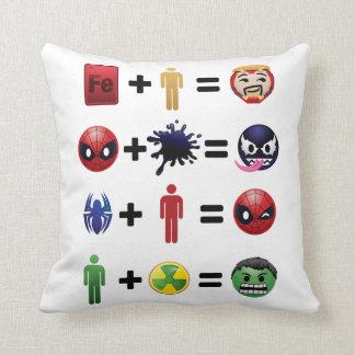 Marvel Emoji Character Equations Cushion