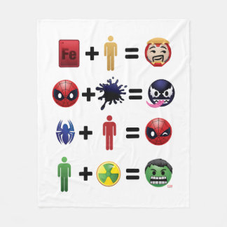 Marvel Emoji Character Equations Fleece Blanket