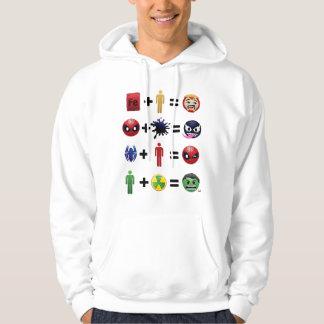 Marvel Emoji Character Equations Hoodie