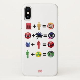 Marvel Emoji Character Equations iPhone X Case
