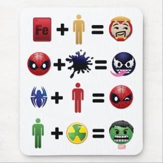 Marvel Emoji Character Equations Mouse Pad