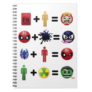 Marvel Emoji Character Equations Notebooks