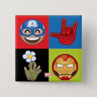 Marvel Emoji Characters Grid Pattern 15 Cm Square Badge