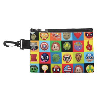 Marvel Emoji Characters Grid Pattern Accessory Bag