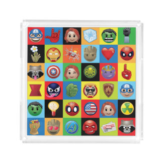 Marvel Emoji Characters Grid Pattern Acrylic Tray