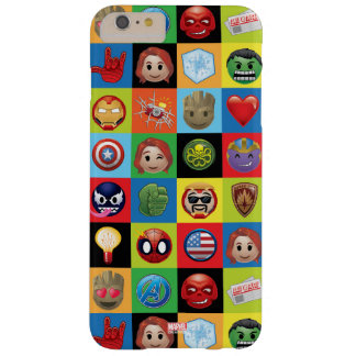 Marvel Emoji Characters Grid Pattern Barely There iPhone 6 Plus Case