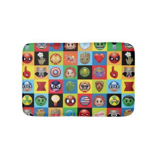 Marvel Emoji Characters Grid Pattern Bath Mat