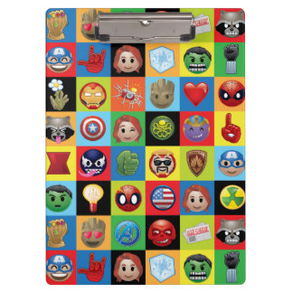 Marvel Emoji Characters Grid Pattern Clipboard