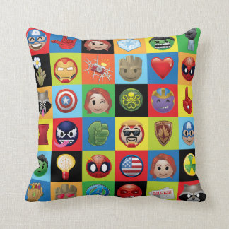 Marvel Emoji Characters Grid Pattern Cushion