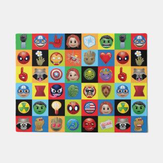Marvel Emoji Characters Grid Pattern Doormat