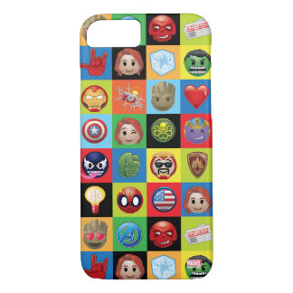 Marvel Emoji Characters Grid Pattern iPhone 8/7 Case